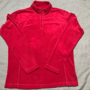 Columbia Cherry Red 1/4 Zip Pullover Large